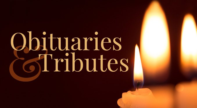 Obituaries and tributes button